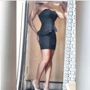 Black peplum dress  XS-S